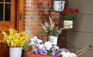 using artificial flowers for outdoor decor