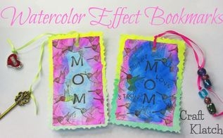 easy inexpensive watercolor effect mother s day bookmarks