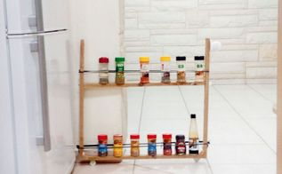 diy spice rack on wheels