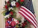 q patriotic grapevine wreath