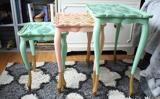 nesting tables makeover tutorial