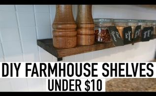 diy farmhouse shelves under 10 maybe even less, Watch video here