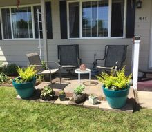 easy small patio with pavers