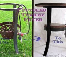 flea market flip upcycled rusty turkey fryer