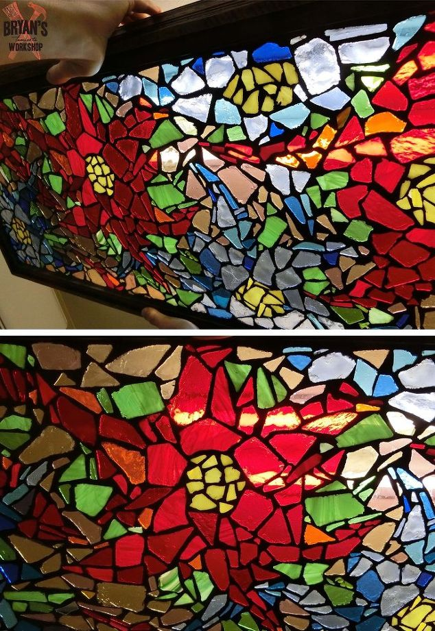 how to make glass on glass mosaic