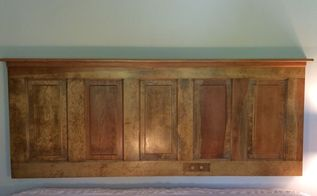 old door to fabulous headboard, So happy with the finished project