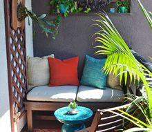 simple diy outdoor lounging bench