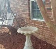 q i live in ok wanting to make my bird bath a planter suggestions ty