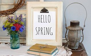 diy cabinet door clipboard hello spring free printable