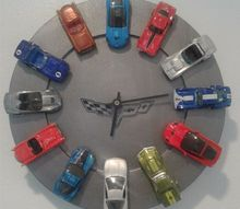turn your kids favorite hot wheels into a cool clock