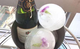 floral ice balls