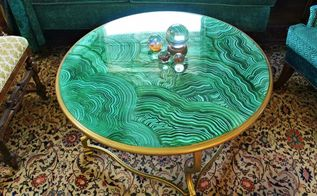 faux malachite coffee table