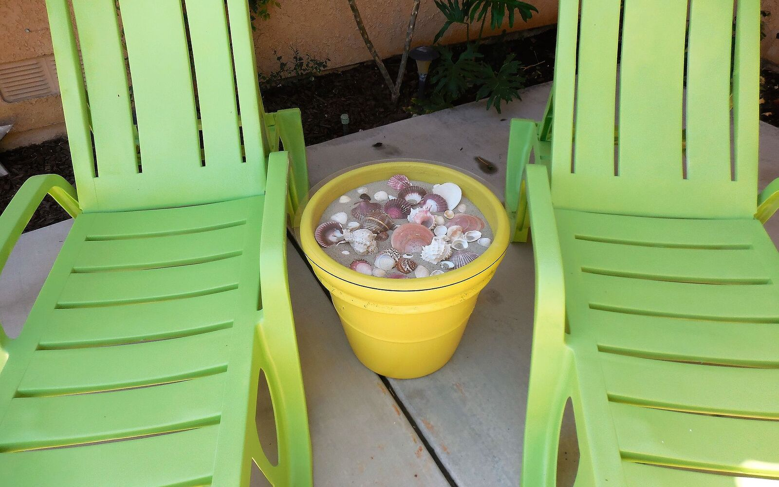 s 12 pool chair ideas we never would have thought of, Upgrade Plastic Chairs With Rustoleum Paint