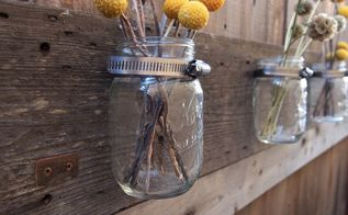 barn wood mason jar holder