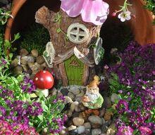 spilled pot gnome garden