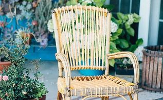 boho rewoven patio chair