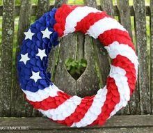 patriotic felt wreath