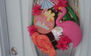 diy summer inspired hose wreath
