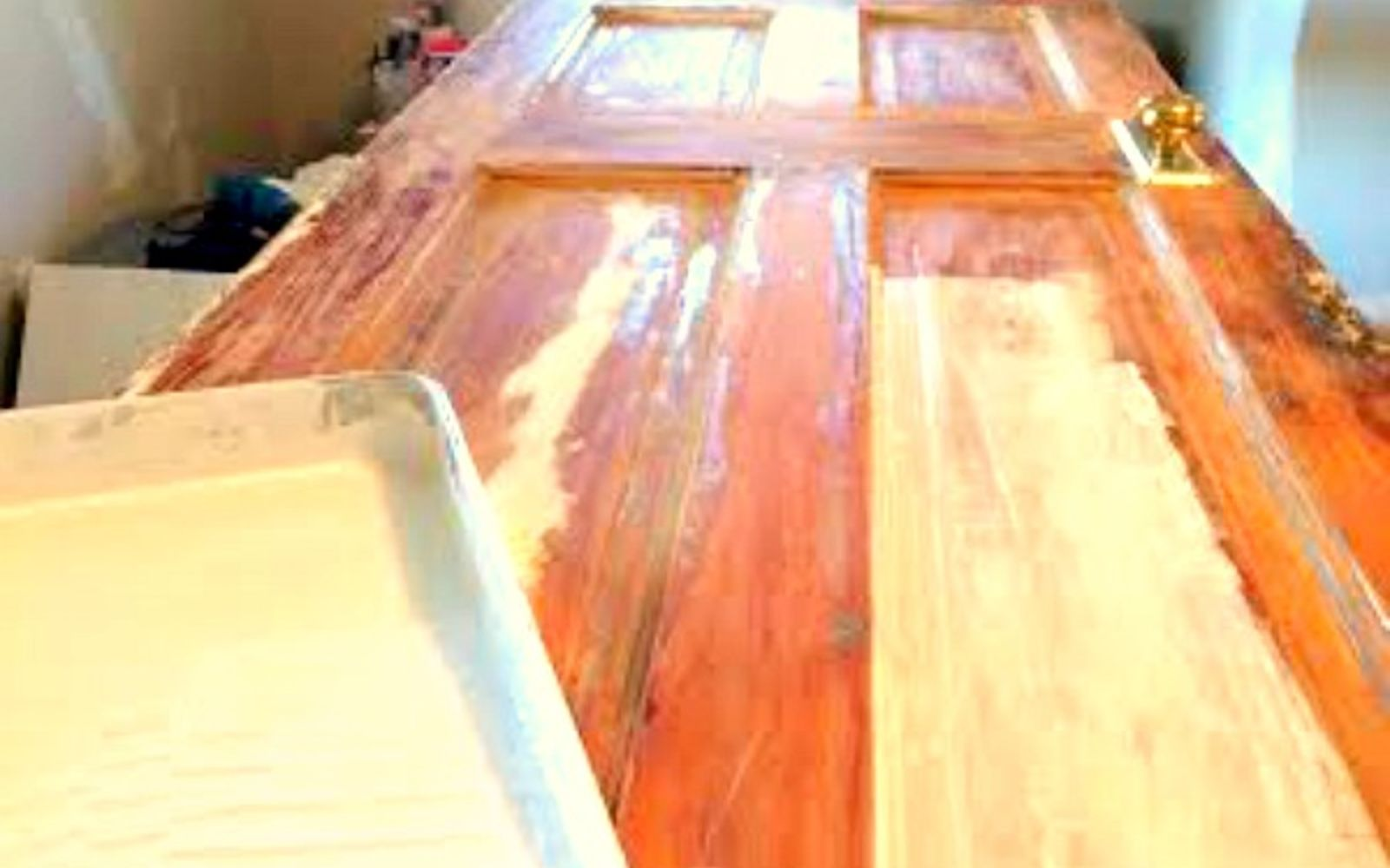 s 30 tricks to help you fix the wood in your home, Repair Cracks In A Door Panel With Glue