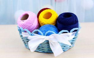 diy woven paper basket