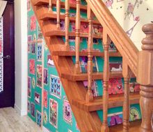 dark stairs transforms to bright one