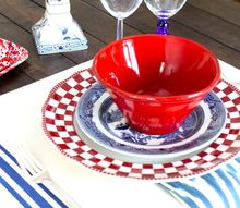 diy french ticking place mats