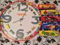 q big hot wheels clock