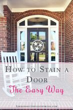 how to stain a door the easy way