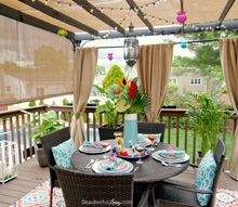 adding privacy and tropical feel to patio deck