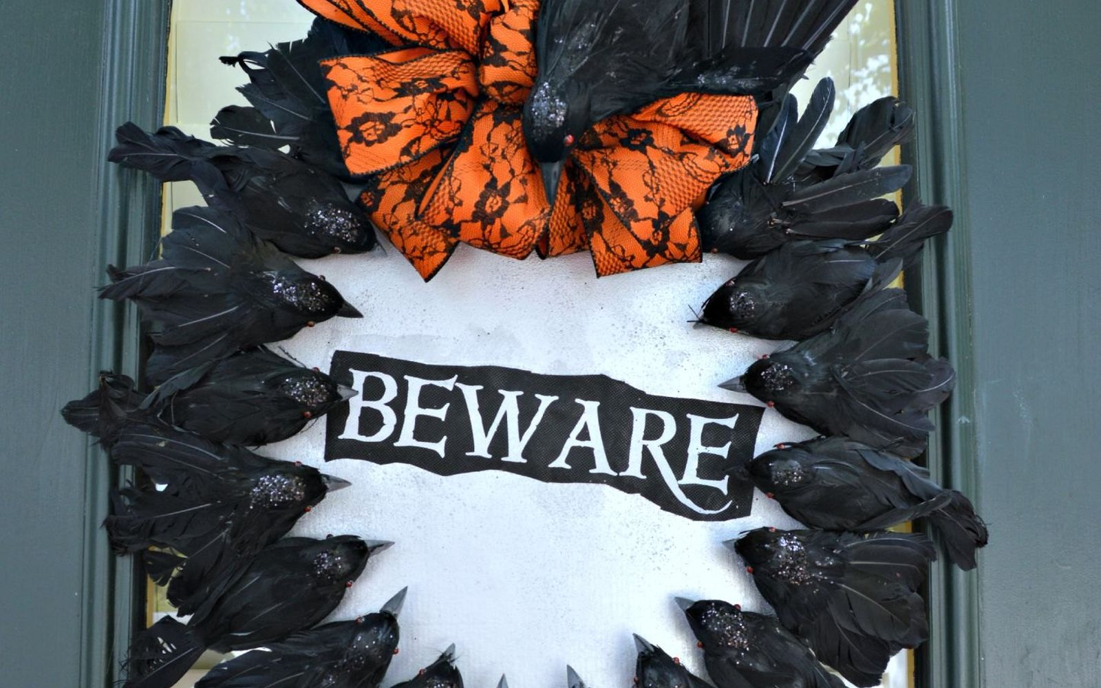 s 17 tricks to make a gorgeous wreath in half the time, Craft A Creepy Crow Hanger For Halloween
