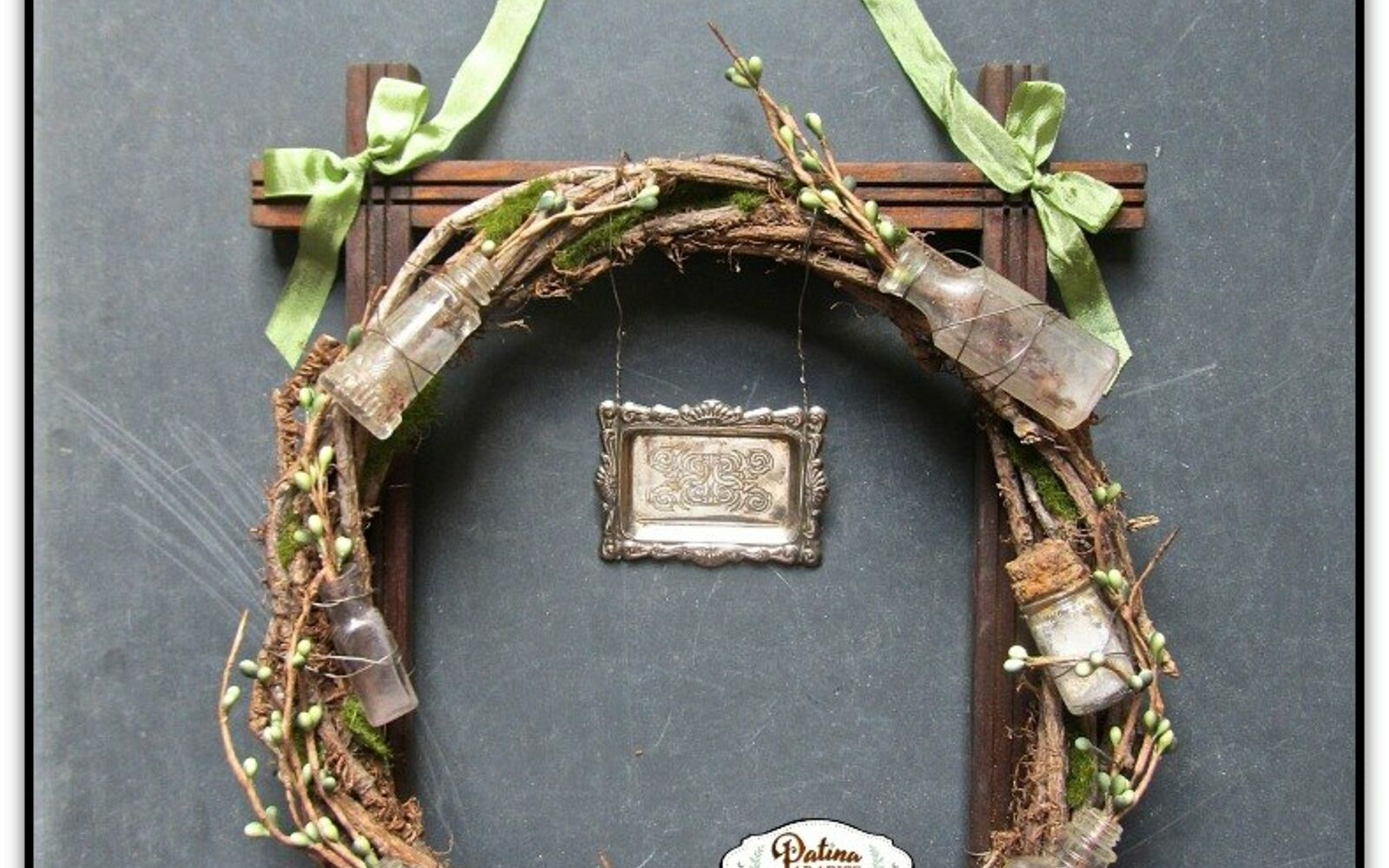 s 17 tricks to make a gorgeous wreath in half the time, Design A Rustic Appearance With Bottles