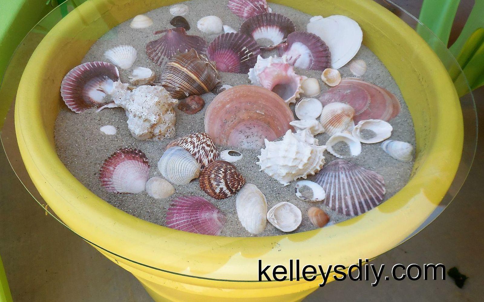 31 coastal decor ideas perfect for your home hometalk make an outdoor seashell table