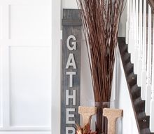diy gather wooden sign