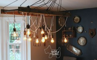 rustic chandelier with a bit of glam