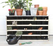 metal cubby portable potting station