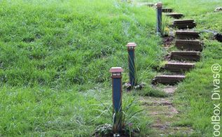 brighten your walkway with these solar lights