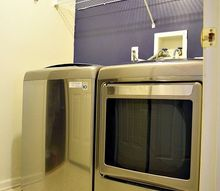 laundry room feature wall