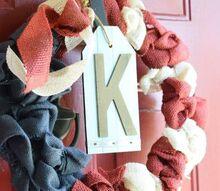 red white blue burlap wreath