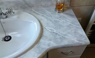 how to faux marble your bathroom countertop, After