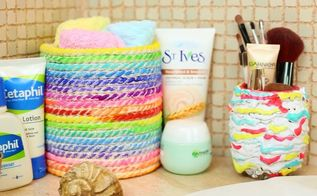 diy bathroom decor mirror and towel holder