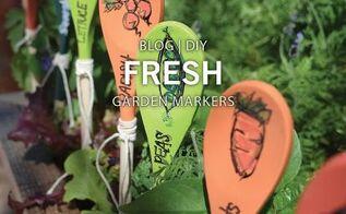 diy how to non fade garden markers