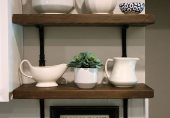 how to build easy farmhouse shelves