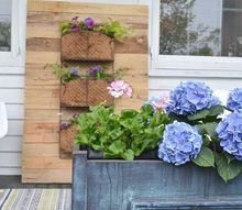 pallet wood vertical planter