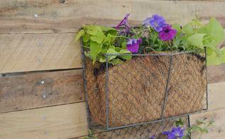pallet wood vertical planter