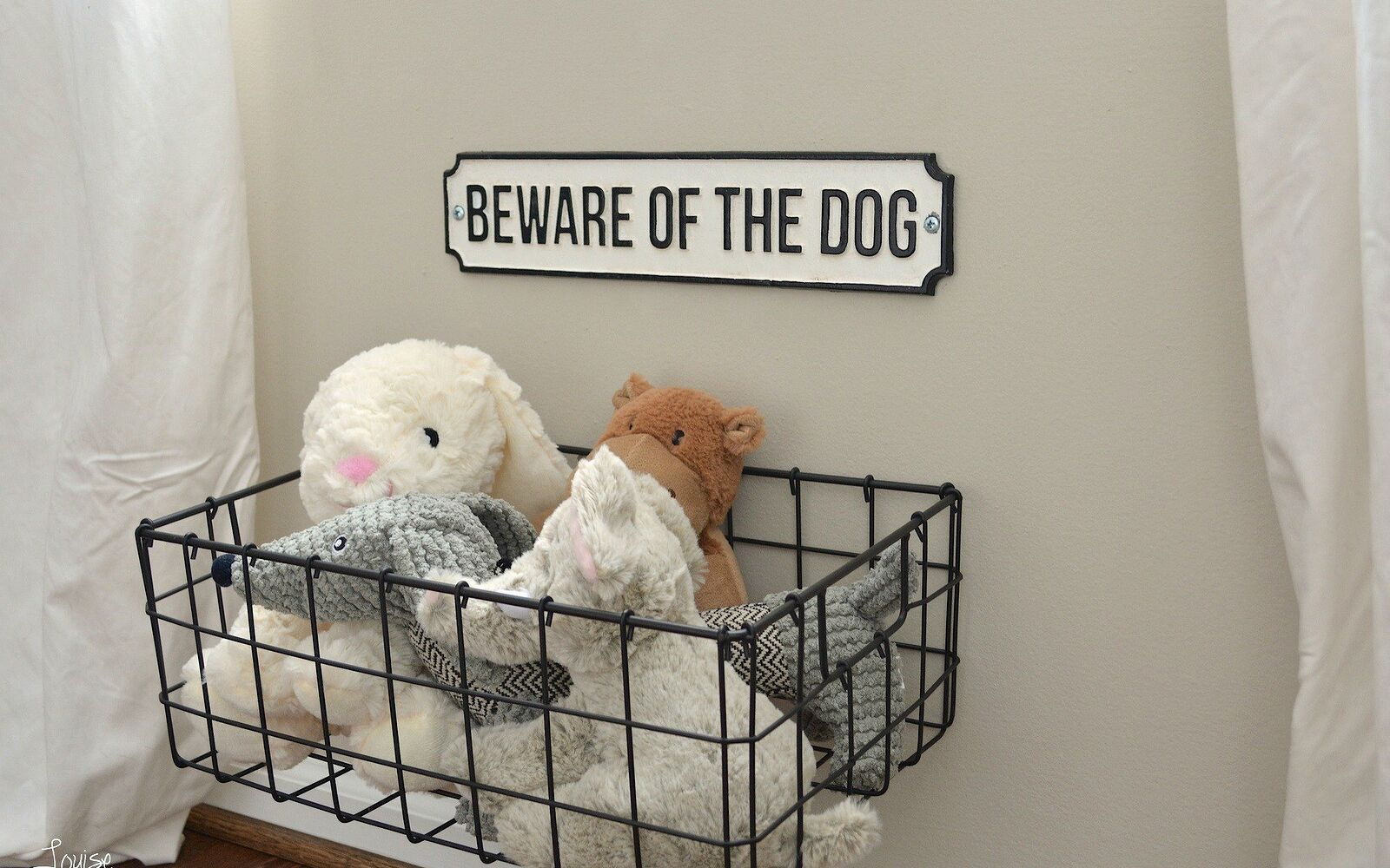 s post, Organize Your Dog s Toys With A Basket