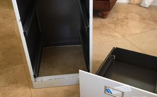 old metal file cabinet makeover