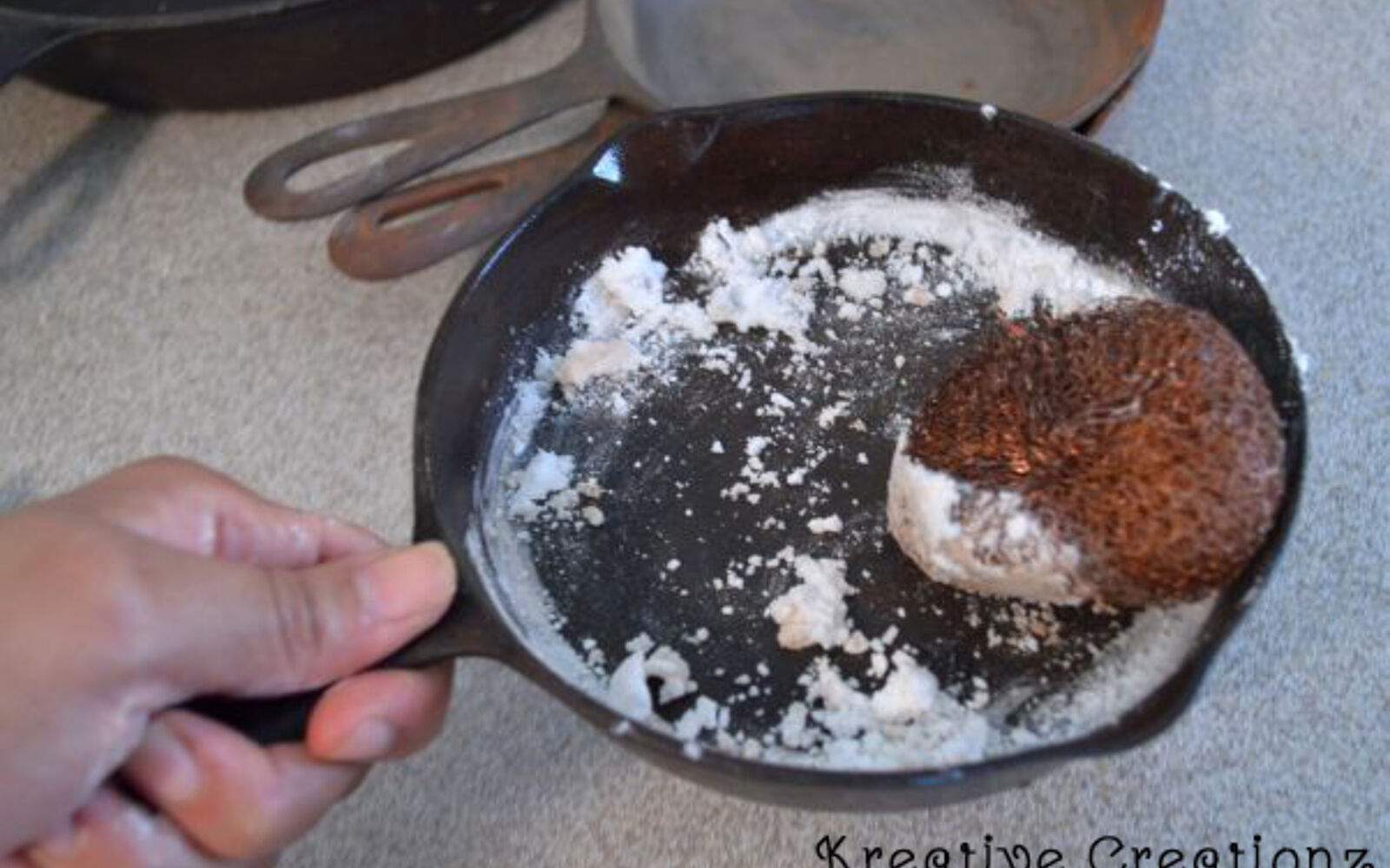 s 30 essential hacks for cleaning around your home, Clean Your Cast Iron With Copper