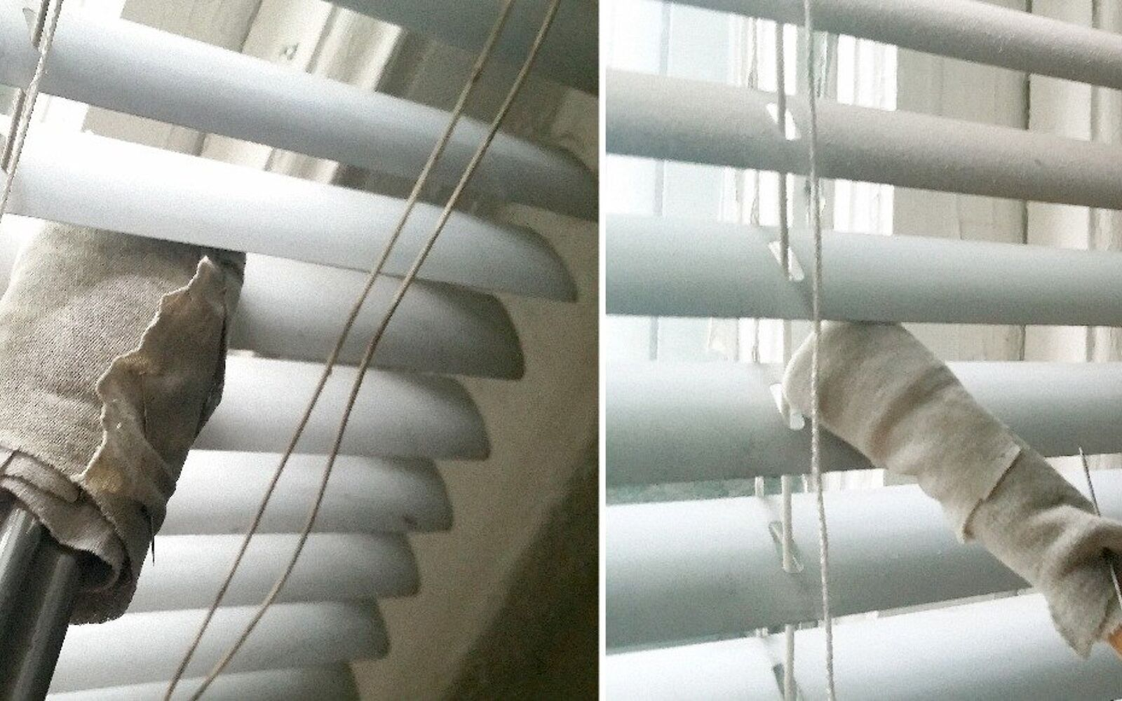 s 30 essential hacks for cleaning around your home, Use Tongs And Chopsticks To Clean Blinds