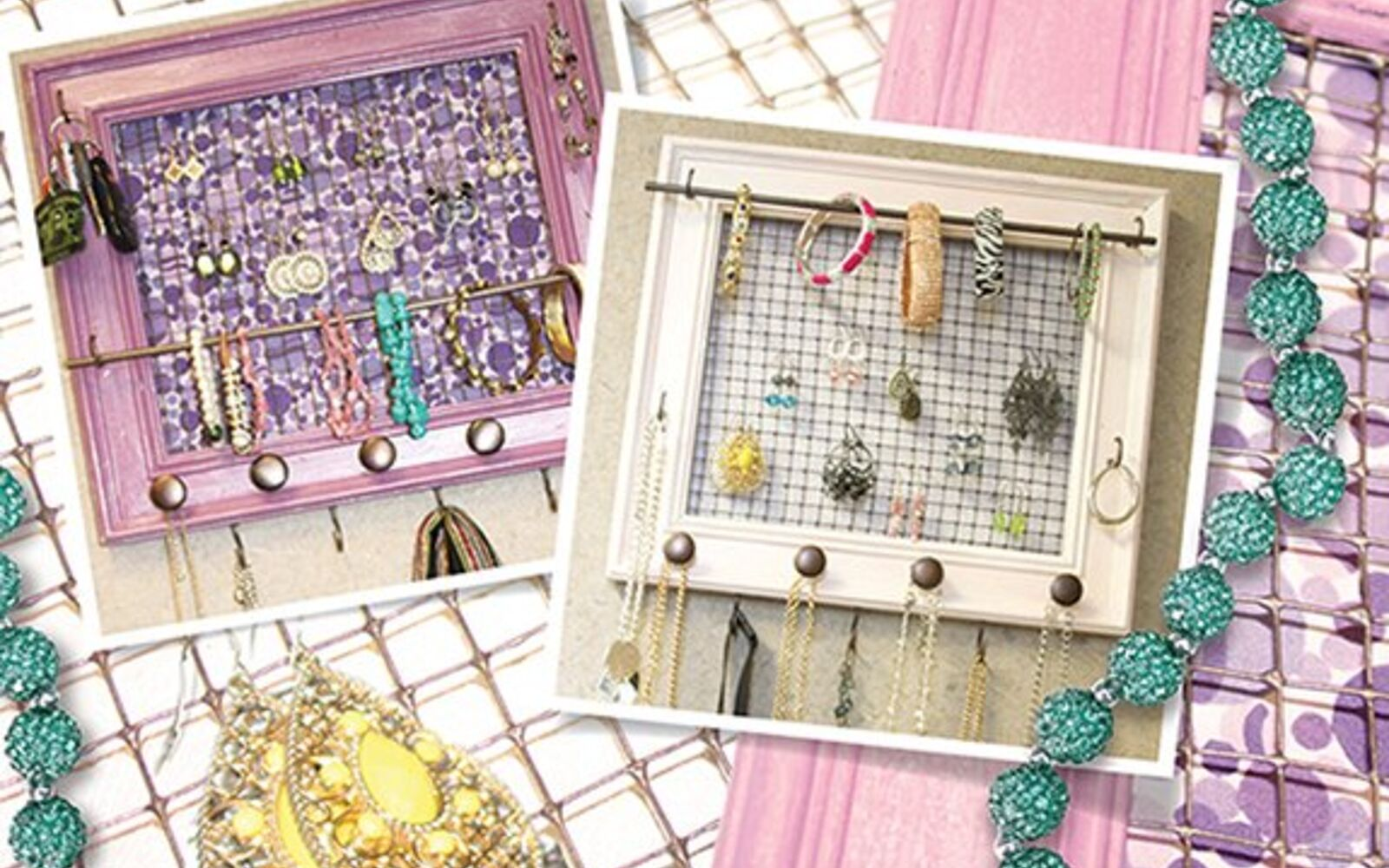 s 30 fun ways to keep your home organized, Make A Jewelry Organizer With Chicken Wire