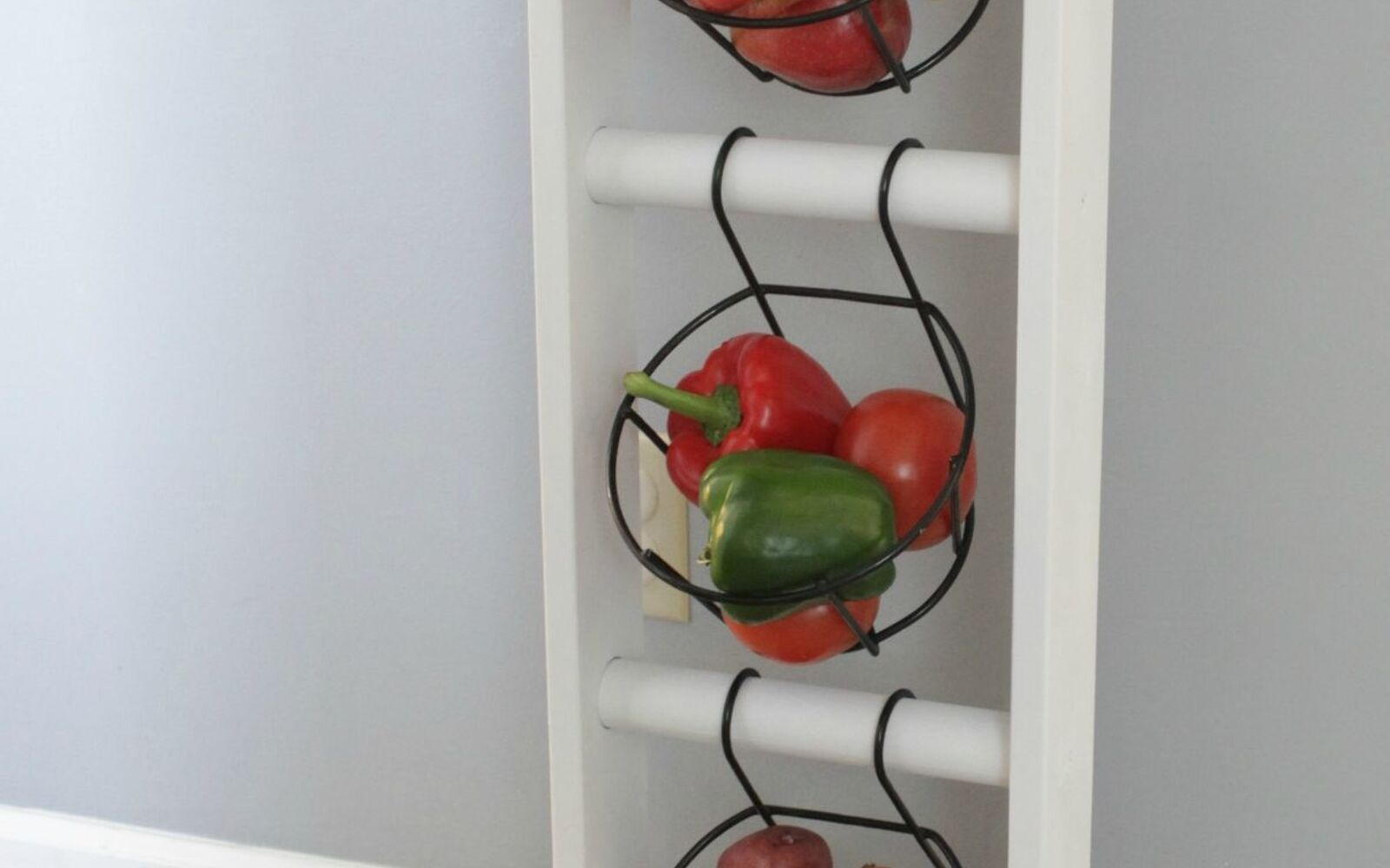 s 30 fun ways to keep your home organized, Create A Produce Stand For Counter Space